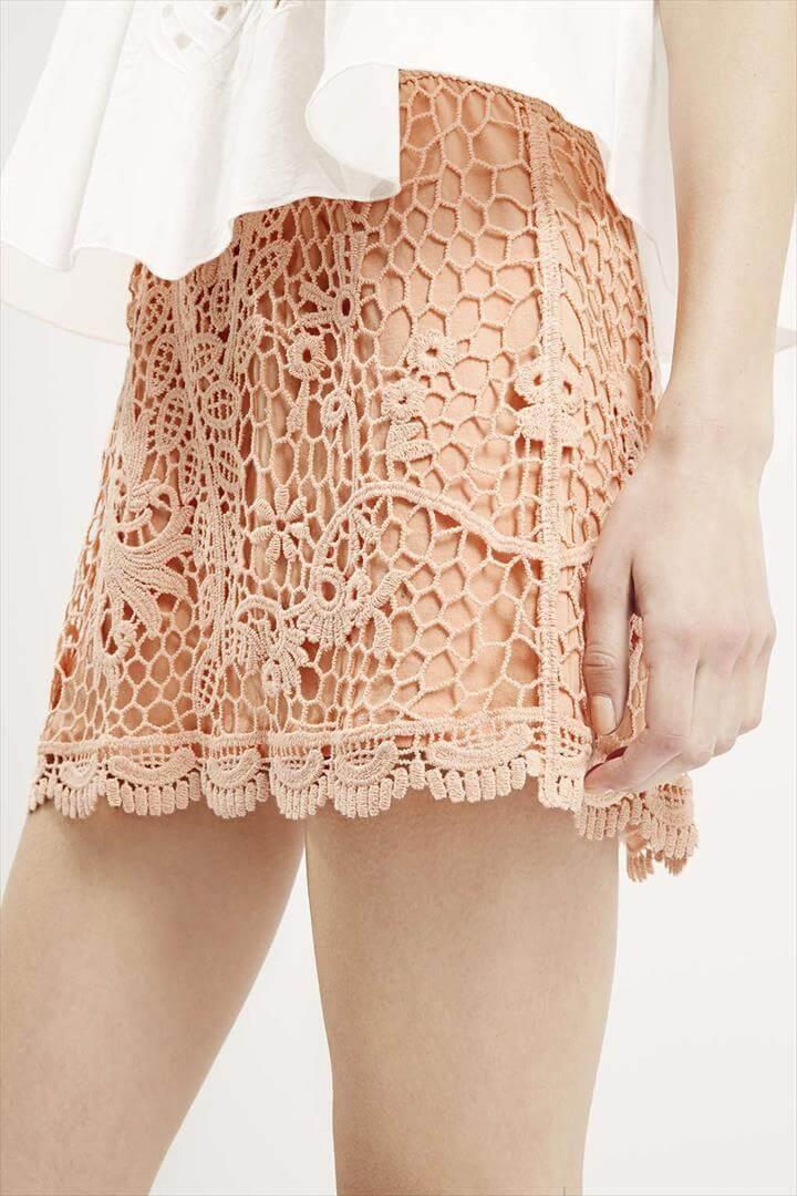 amazing crochet skirt