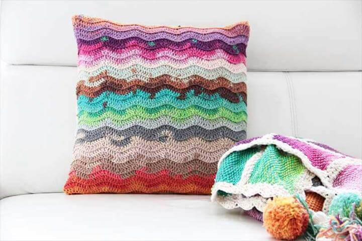 Hand crochet pillow case Hand crochet pillow case