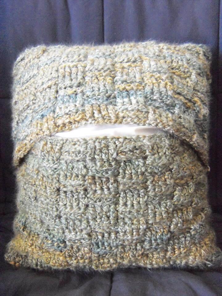 Basket-Weave Pillow
