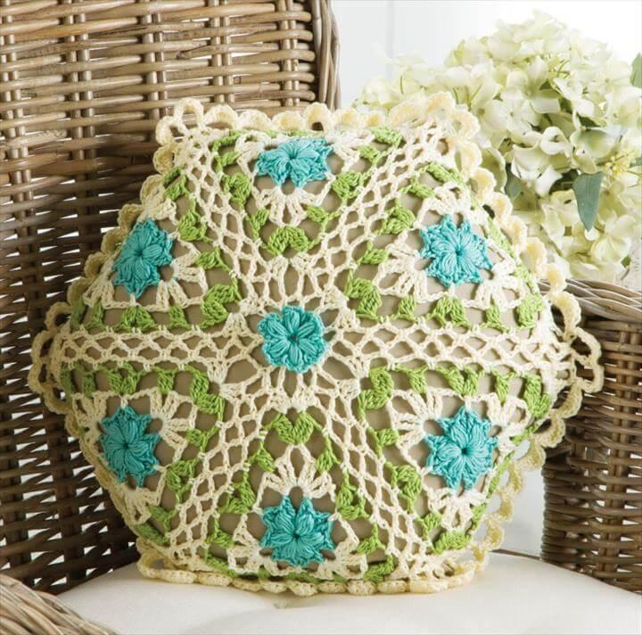 Crochet pillow pattern, Crochet pattern, Crochet tutorial, pillow cover, home decor,