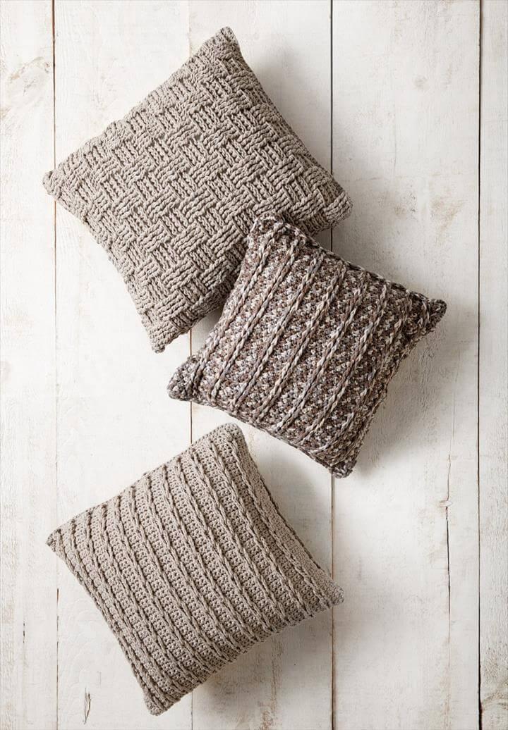 Crochet Pillow Trio