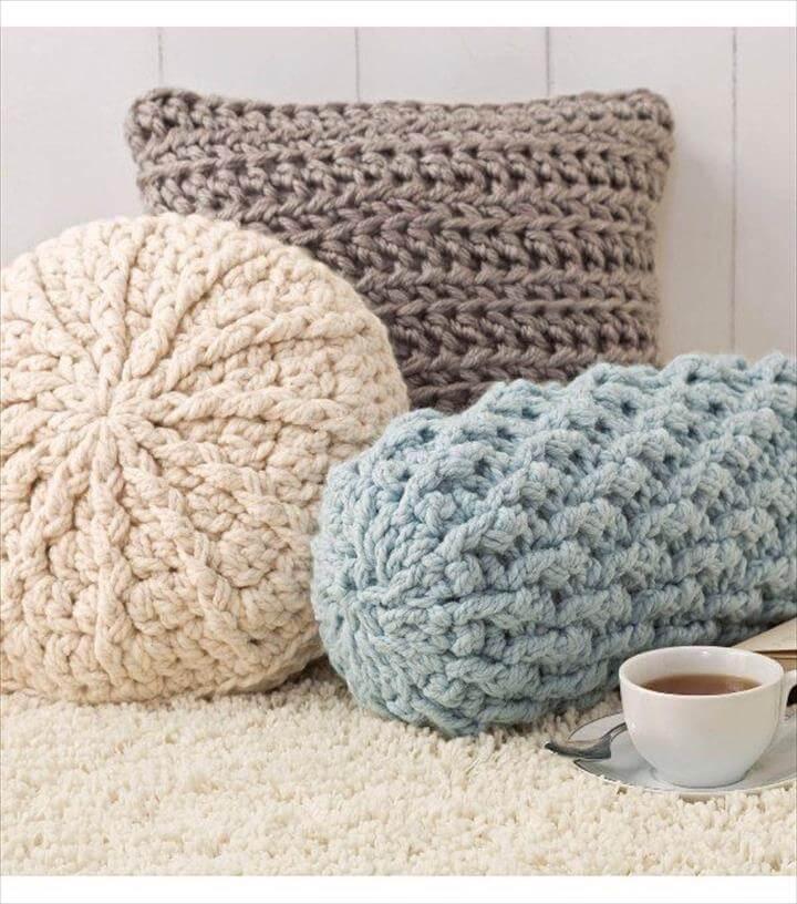 crochet pillow design