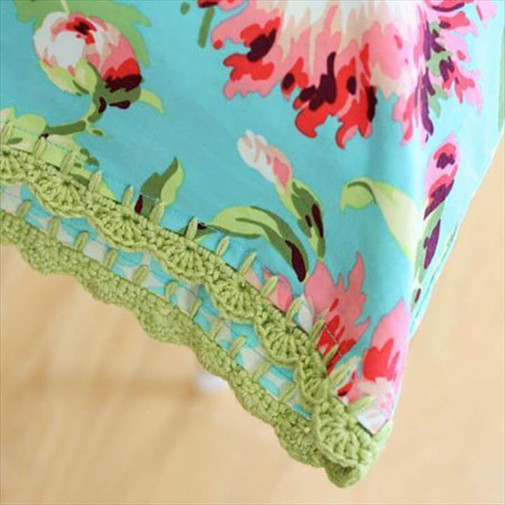 DIY Sewing Projects- Pillowcase Ideas - Crochet Pillowcase Sewing Tutorial