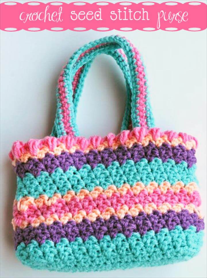 Crochet Seed Stitch Purse - Free Pattern
