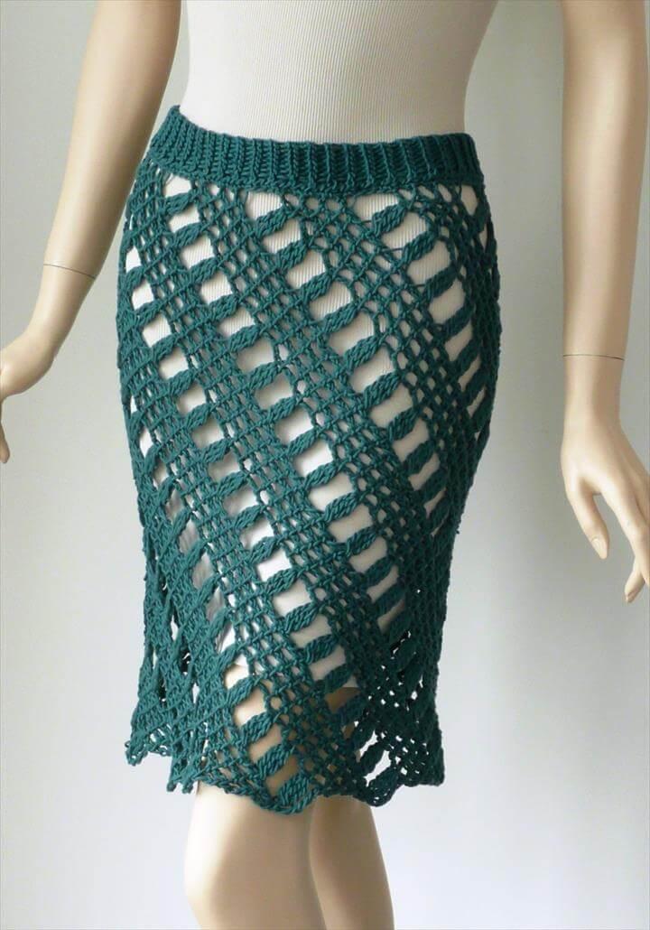 nice color crochet skirt