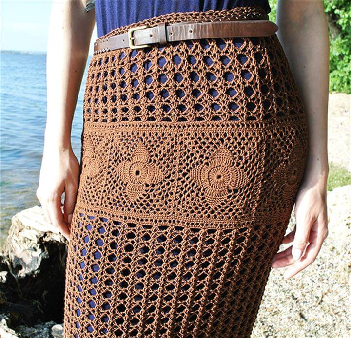 Crochet Maxi Skirt Free Pattern
