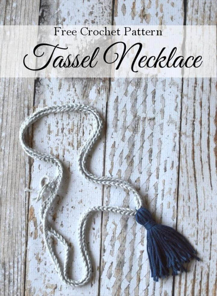 Crochet Tassel Necklace