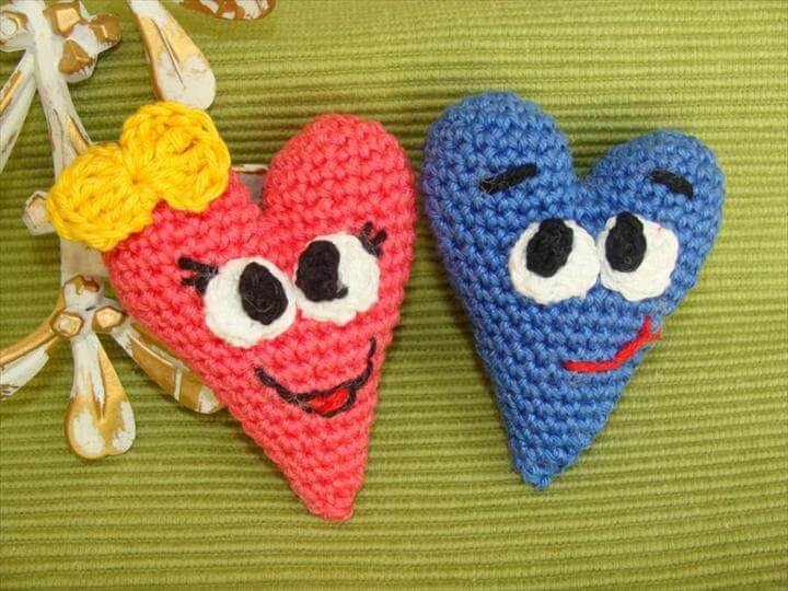 CROCHET PATTERN, Hearts, Valentine Heart, Funny Hearts, Valentine Day decor, Valentine Gift, Cute Hearts, Amigurumi Pattern, Home Decoration