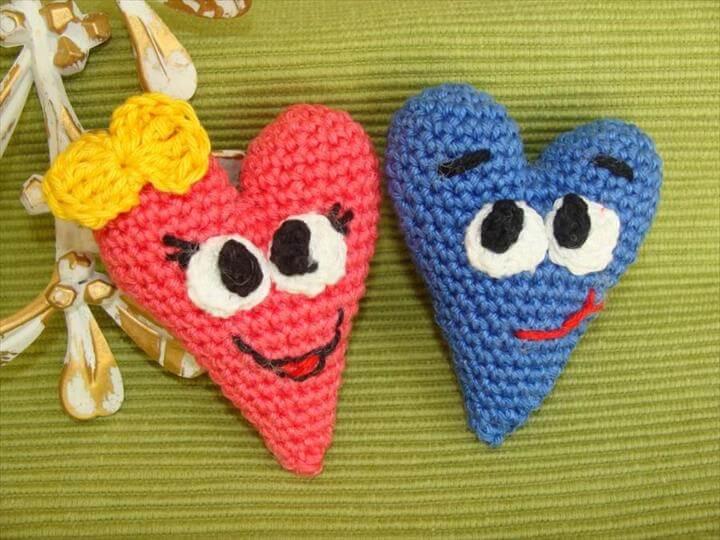 CROCHET PATTERN, Hearts, Valentine Heart, Funny Hearts, Valentine Day decor, Valentine Gift, Cute Hearts, Amigurumi Pattern, Home Decoration