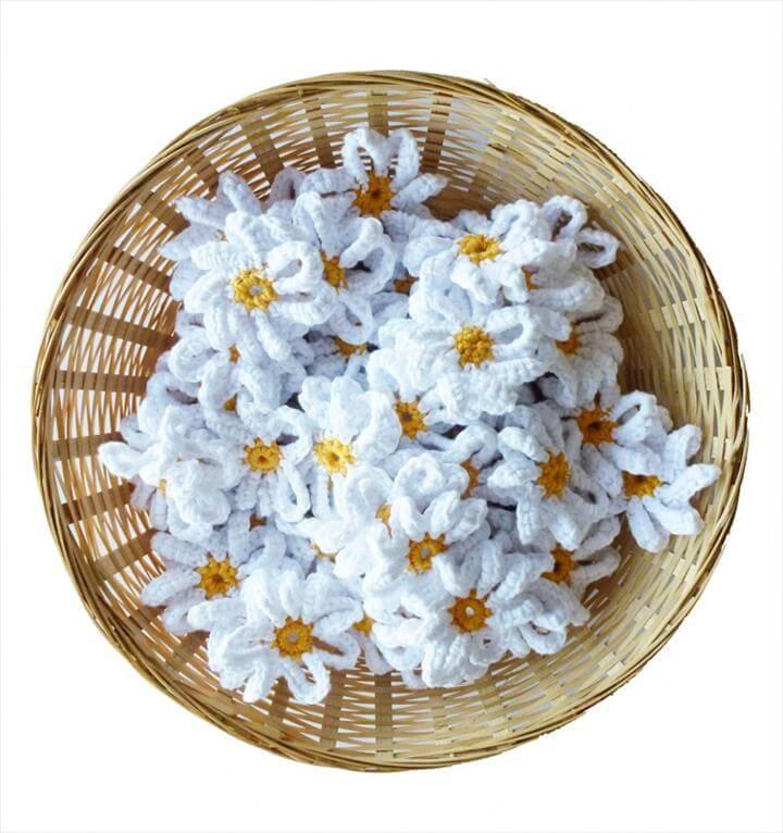 crochet flowers for garden parties and weddings