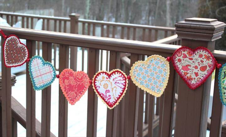 Image result for Crochet Garland Crocheted Paper Heart Garland