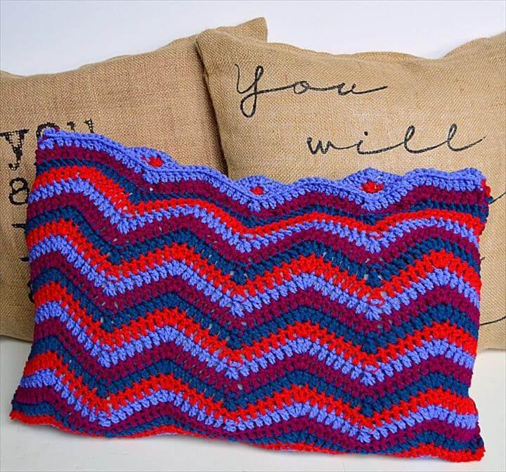 Crocheted Ripple Pillow Pattern