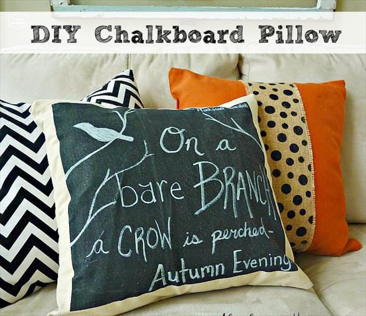 Easy DIY Chalkboard Pillow