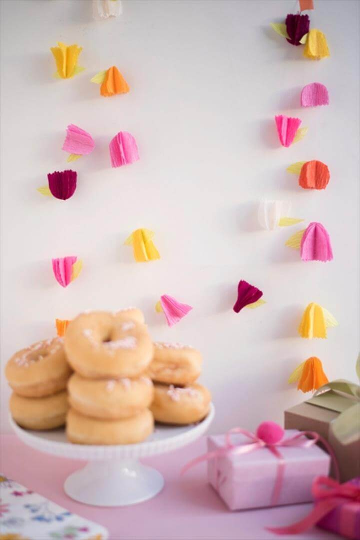 DIY Crepe Paper Flower Garland