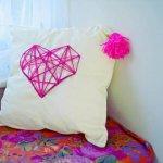 DIY Geometric Hearh Cushion