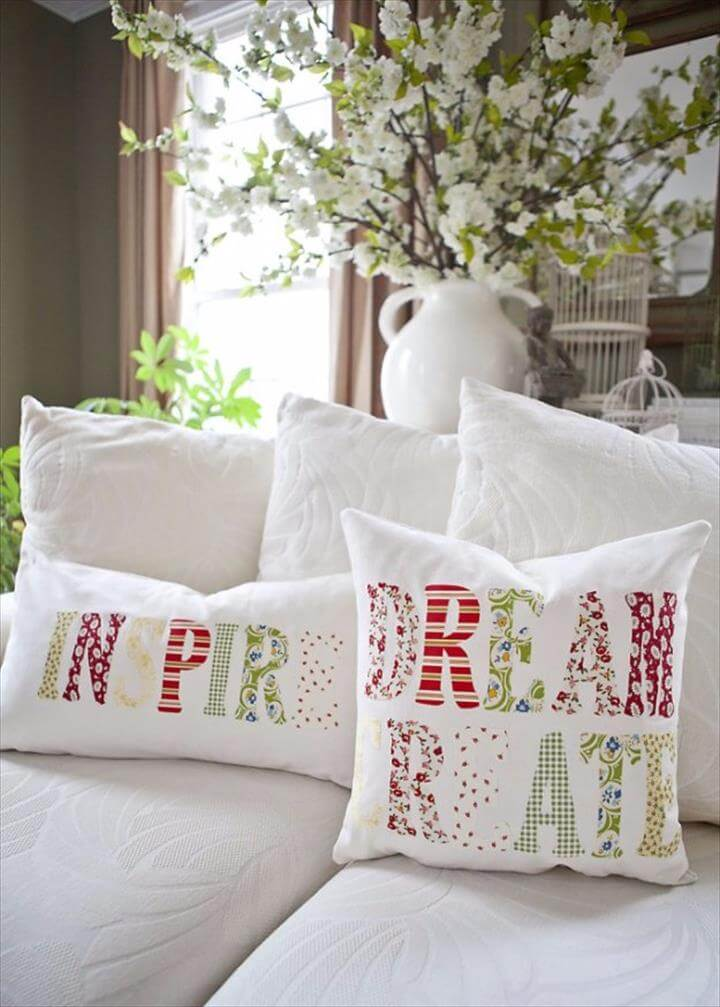 DIY Pillows and Creative Pillow Projects - DIY Inspiration Throw Pillows Tutorial - Decorative Cases and