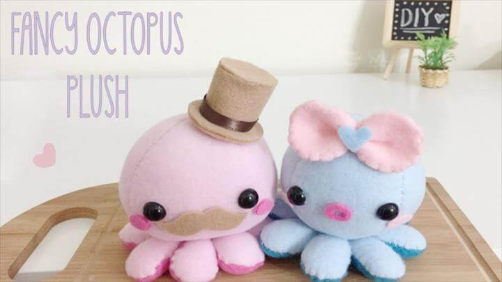 DIY Octopus Fancy Plush Tutorial