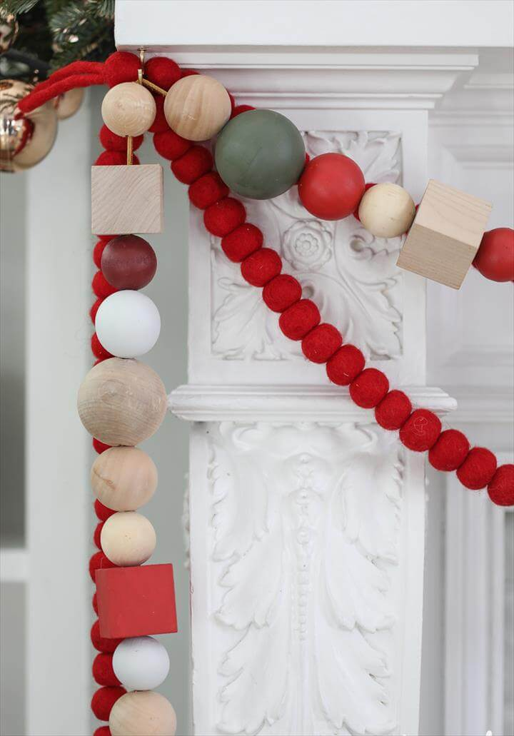 DIY Oversized Wood Bead Garland