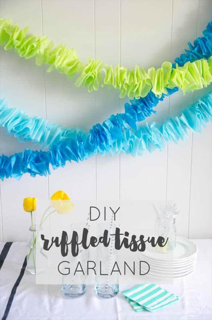 DIY Ruffled Tissue Garland