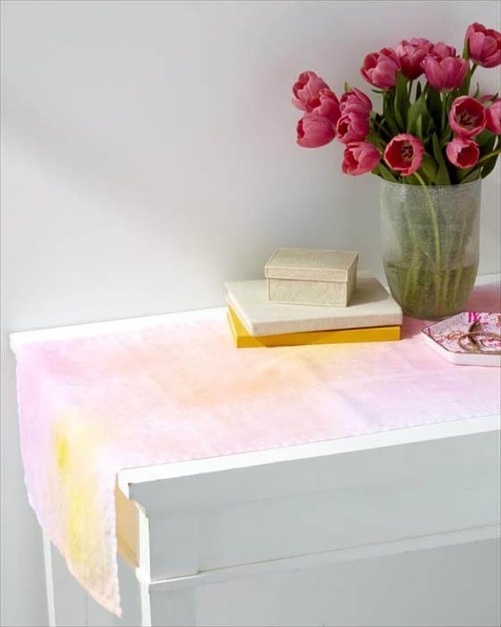 DIY Watercolor Table Runner