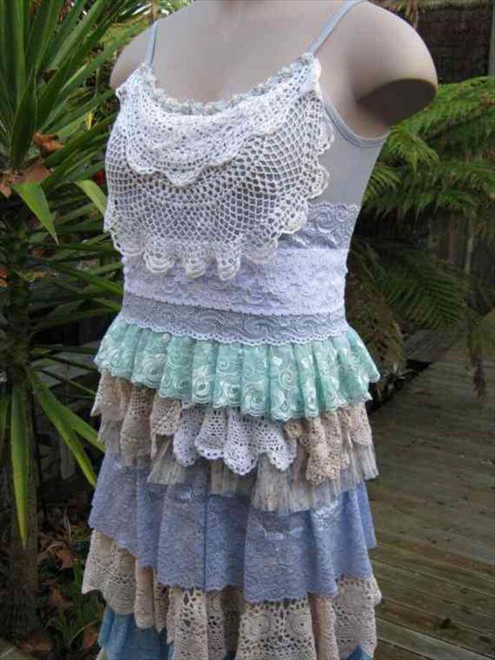 crocheted doily dress