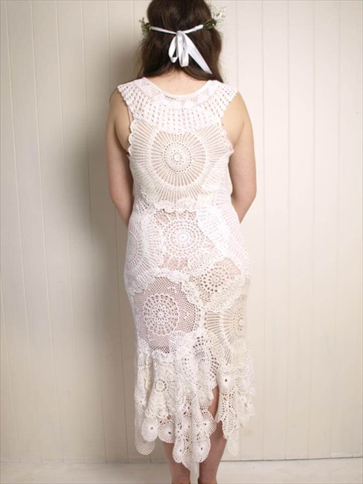 free instructions pattern doily dress