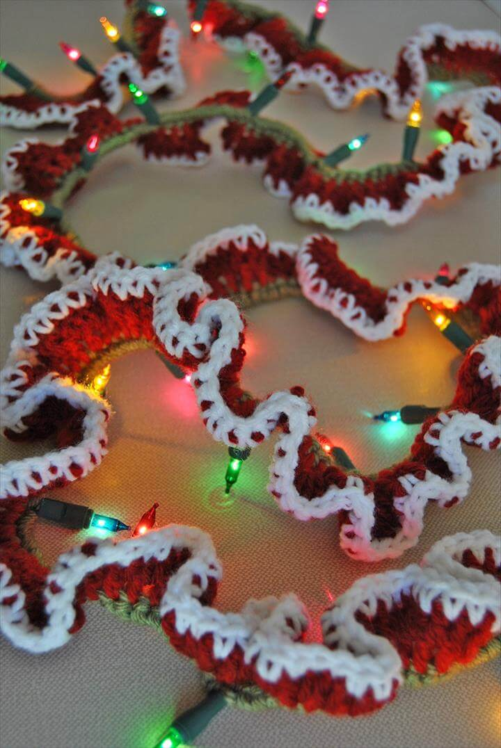 Image result for Crochet Garland Easy Crochet Lighted Garland