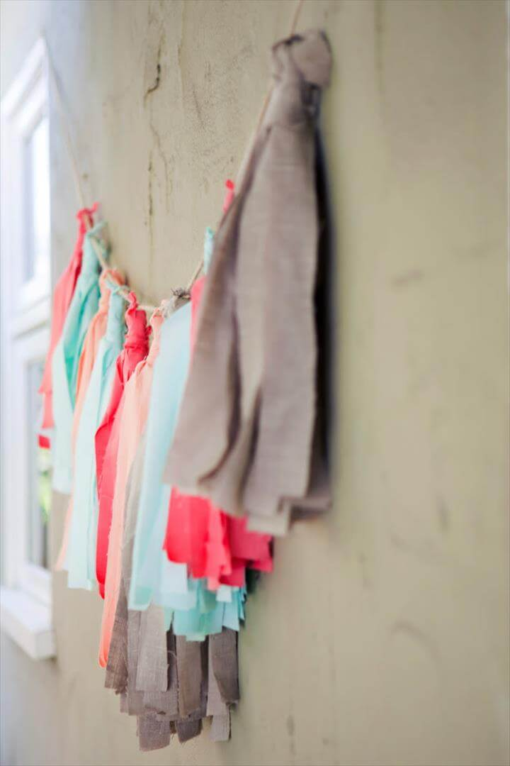 A Fabric Tassel Garland