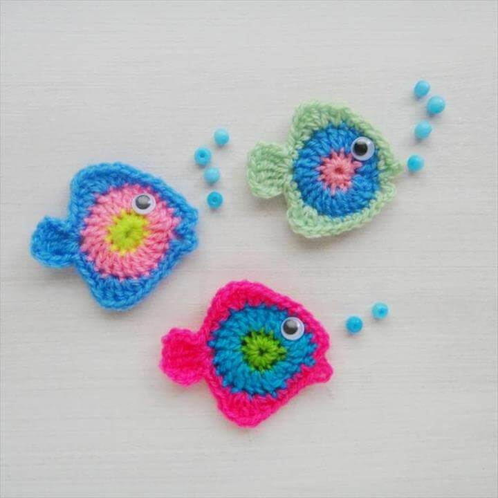 Awewsome Fish Crochet Applique