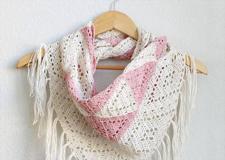 Geometric Triangle Scarf Crochet Pattern