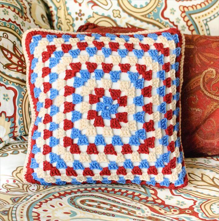Granny Crochet Pillow Patterns
