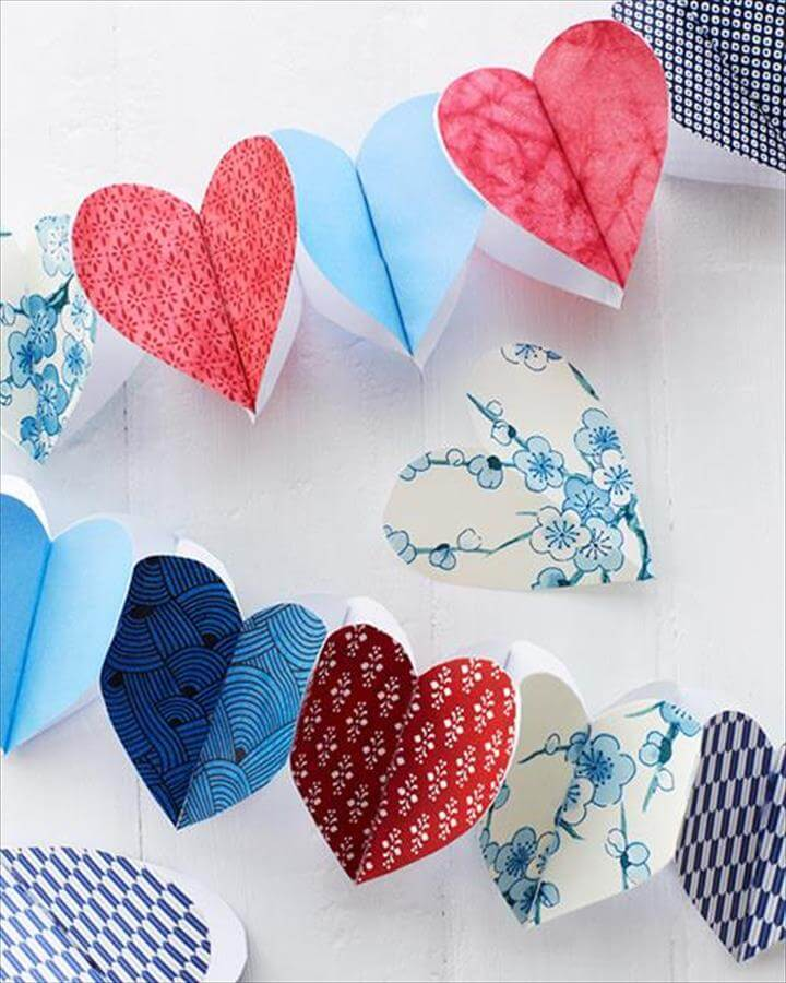 DIY Paper Heart Garland