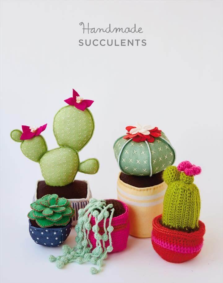 Handmade succulents with Hallmark artists