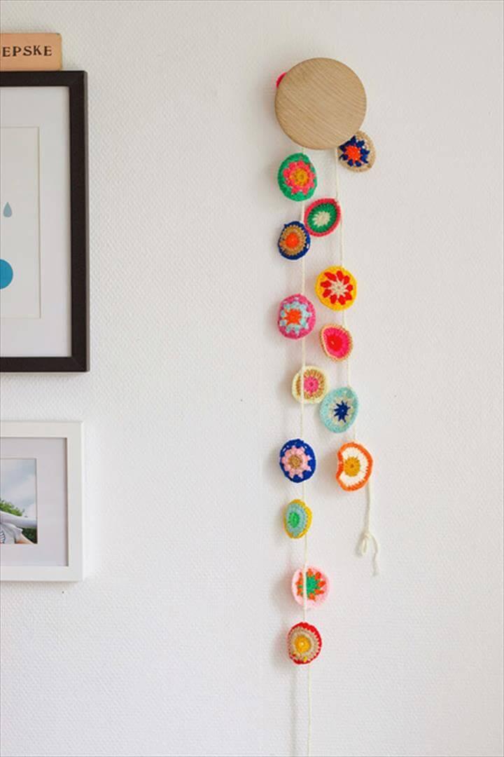 Crochet color bunting