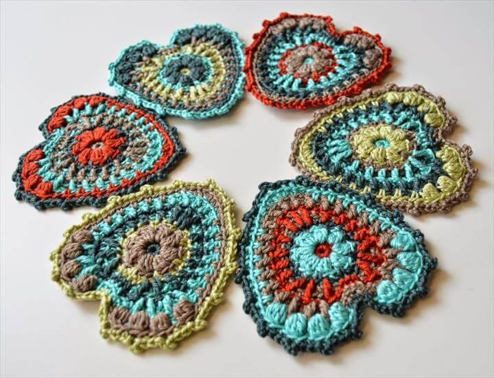 Crocheted Heart PDF pattern