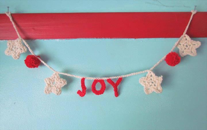 diy joy crochet garland