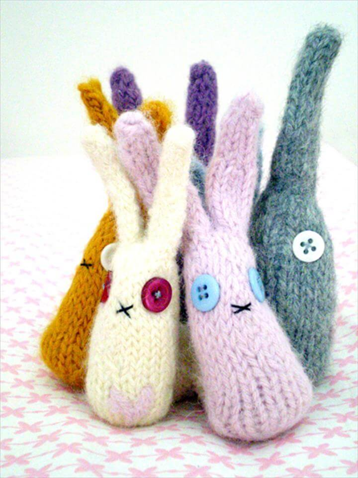 Knit Rabbits Pattern