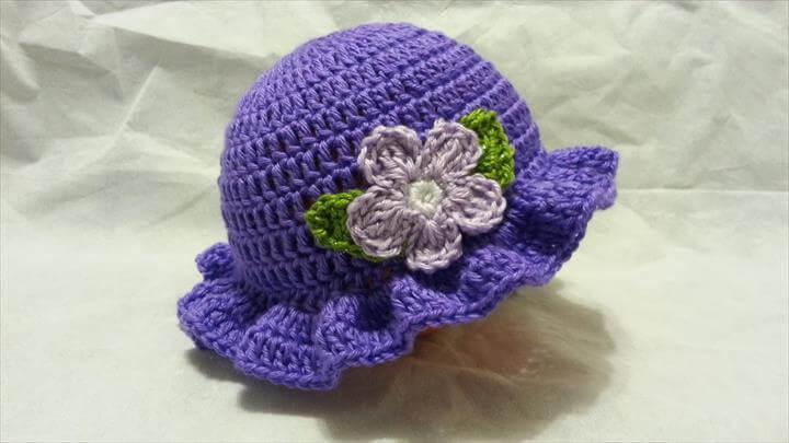 Handmade Crochet Baby Hat Cap Blue