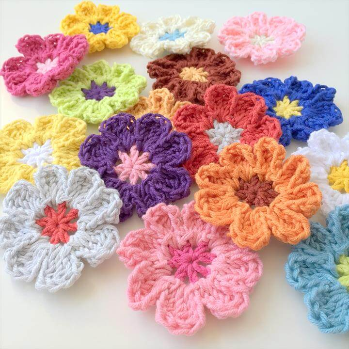 crochet flower design