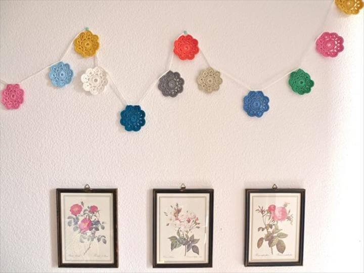 Maybelle Crochet Flower Garland