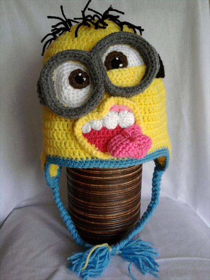 Minion crochet hat pattern