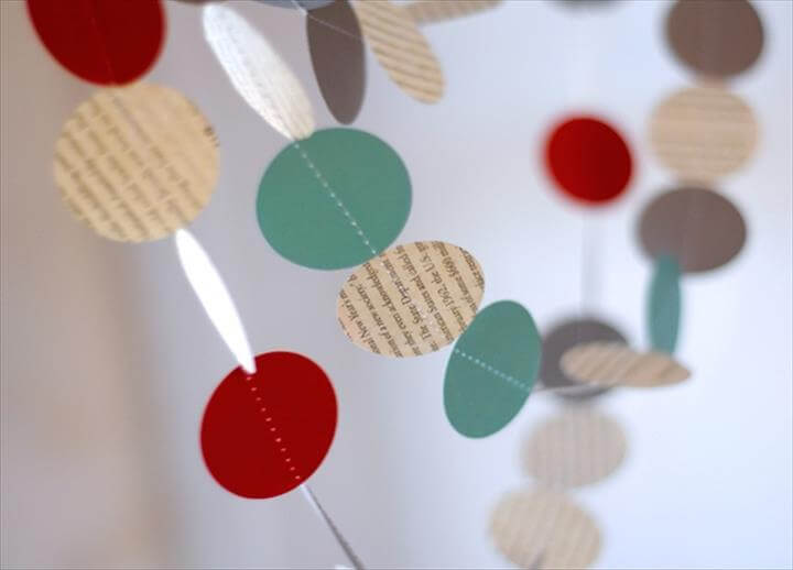 Modern Paper Holiday Garland (on the Cheap!)