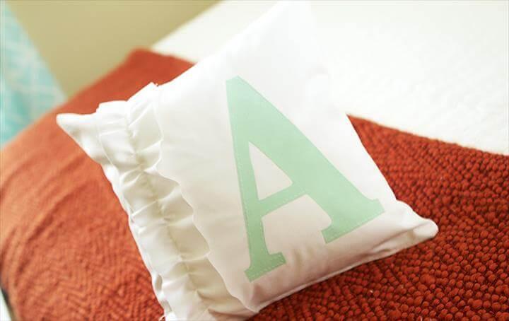 monogram pillow tutorials