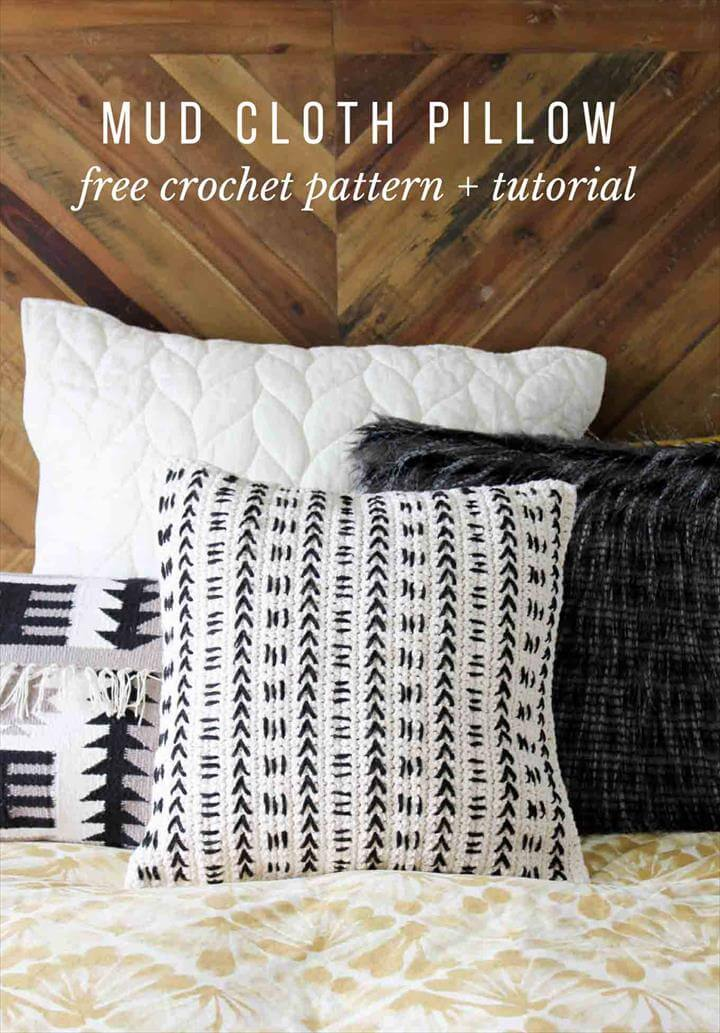 Mud Cloth Crochet Pillow Pattern