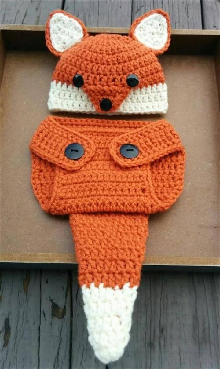 Newborn Crochet Fox Outfit