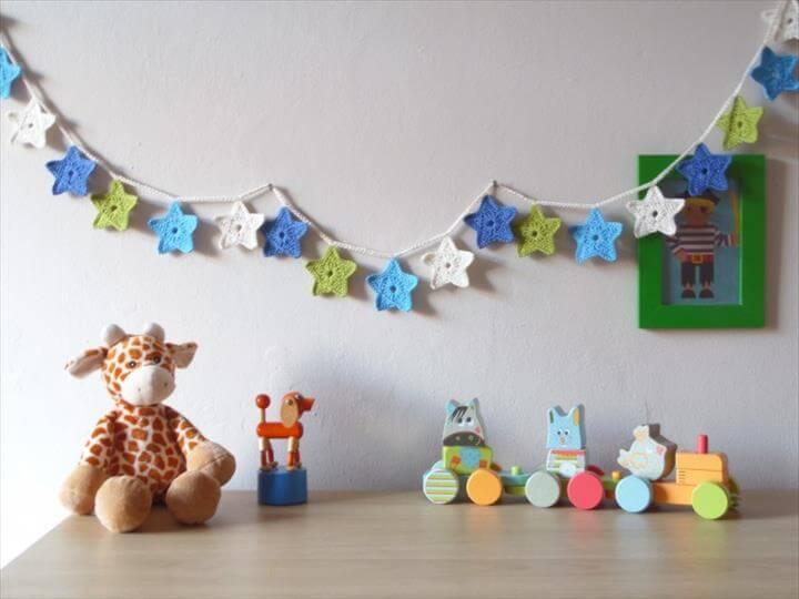 Free Crochet Pattern For Star Garland : 52 Handmade Crochet Garland Free Pattern DIY to Make