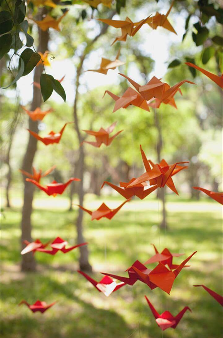 Image result for diy garland DIY :: Ombré Crane Garland