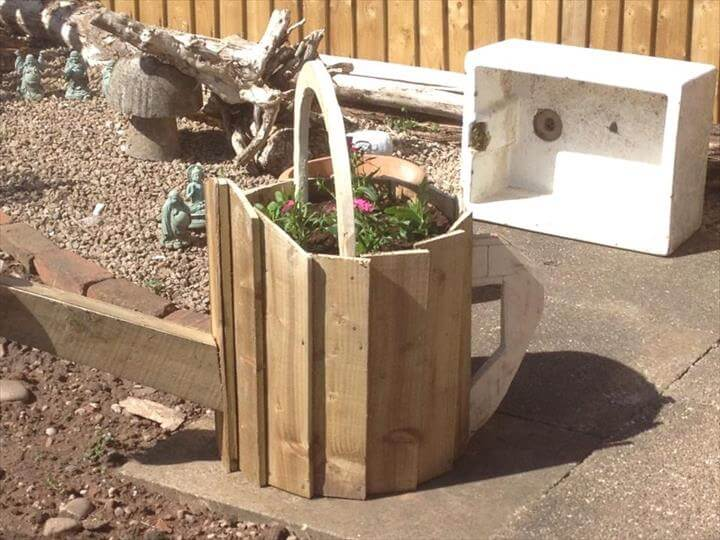pallet planter can