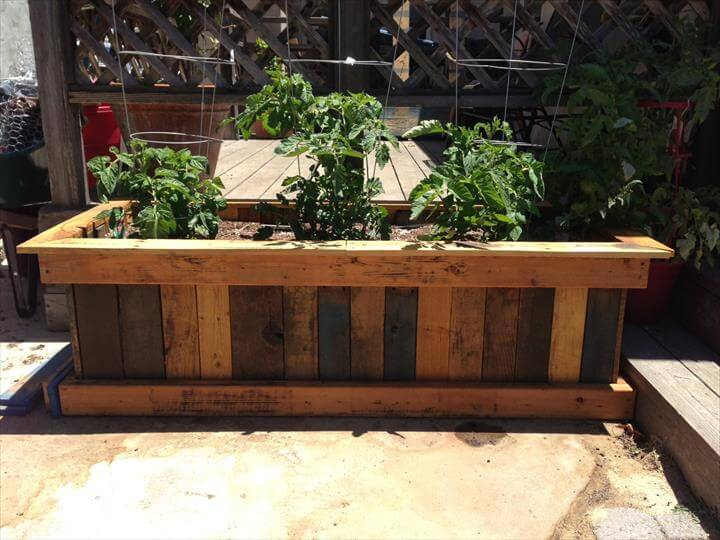 Image result for PALLET GARDEN PLANTER Pallet planter box - Garden