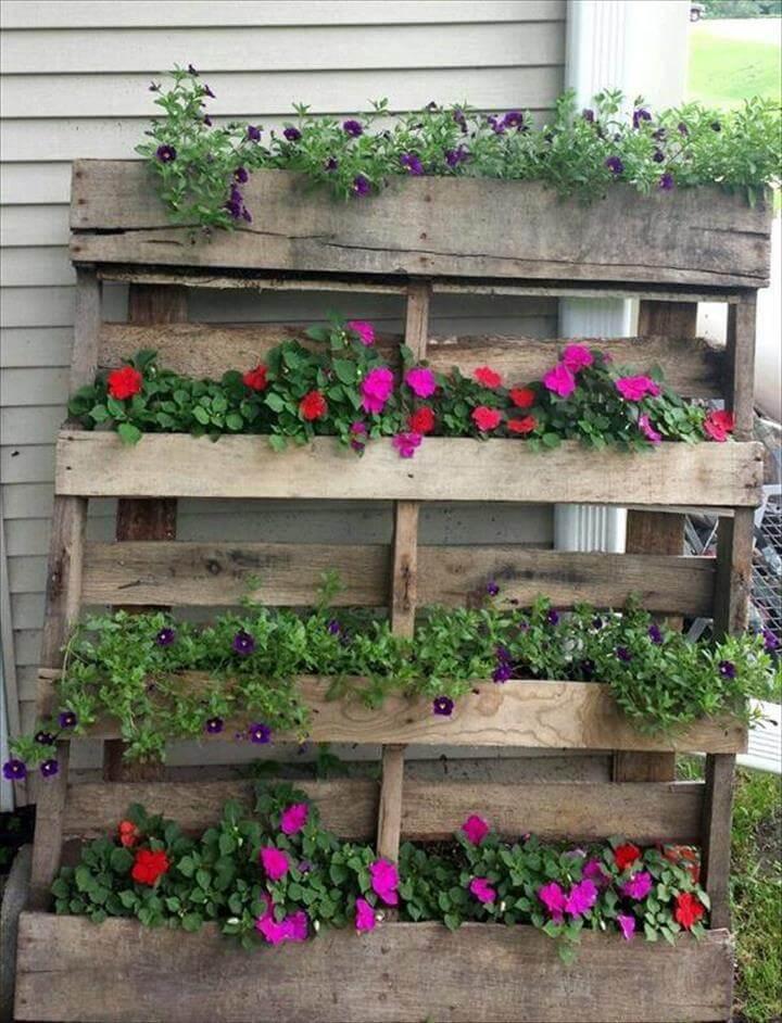 nice pallet flower planter